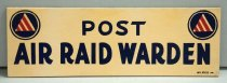 Image of Air Raid Warden Sign