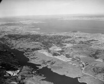 Image of 2015.001.01771.10 - Aerial View of Crystal Springs Reservoir in San Mateo, 1961