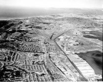Image of Aerial View of San Francisco International Airport and Surrounding Cities,
