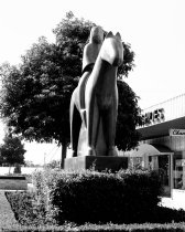 Image of Benny Bufano Statue at Hillsdale Shopping Center, 1961