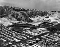 Image of 2015.001.02787.10 - Cow Palace in Daly City with Snow on San Bruno Mountain, 1961