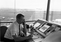 Image of Air Traffic Controller at San Francisco International Airport, 1964