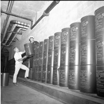 Image of 2015.001.05739.2 - Civil Defense Food and Water Stockpile Under Hillsdale Shopping Center, 1964