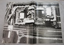 Image of 2016.015.001.1 - Untitled (Aerial Photograph of Raychem Corporation Headquarters), c. 1960s