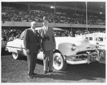 Image of 035 W.p.kyne And Man, Car In Bm Winners Circle