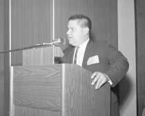 Image of Jay Pritzker, President of Hyatt Corporation, 1965