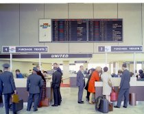 Image of 2015.001.08688.2 - United Airlines Ticket Counter at San Francisco International Airport, 1965