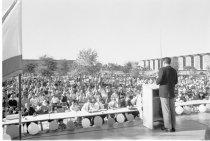 Image of Ronald Reagan Speaking at College of San Mateo, 1966