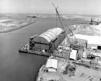 Image of 2015.001.16504.1 - Hughes Mining Barge at the Port of Redwood City, 1980