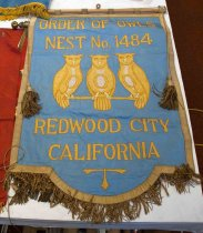 Image of Order of the Owls Nest No. 1484 Banner, c. 1914-1929