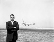 Image of Jim McPherson and Pan-American Plane, 1960