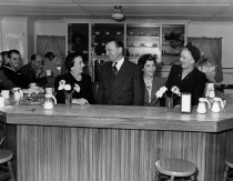 Image of 1970.039A.007 - Mrs. Pettingill at San Mateo U.S.O. Canteen
