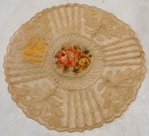 Image of Embroidered Lace Doily, n.d.