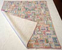Image of Strip Box Baby Quilt, 1935