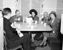 Image of Burlingame Red Cross Meeting with Staff and Volunteers, 1949