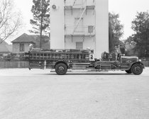 Image of Burlingame Fire Department Fire Truck, 1949