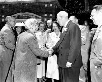 Image of 2015.001.00514.2 - Governor Warren Greeting a Crowd at Burlingame City Hall, 1949