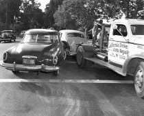 Image of Car Crash on El Camino Real in Burlingame, May 1949