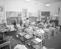 Image of Coastside Classroom in One Room  Elementary Schoolhouse, 1957