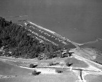 Image of 2015.001.00705.13 - Aerial View of San Mateo Yacht Club Looking Southwest to Northeast, 1957
