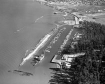 Image of Aerial View of Coyote Point Yacht Club, 1957