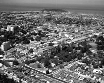 Image of Aerial View of Downtown San Mateo, 1957