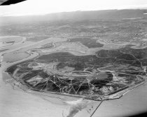 Image of 2015.001.03037.9 - Aerial View of Brewer Island Looking Southwest, April 1962