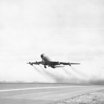 Image of Airplane Takeoff at San Francisco International Airport, 1964