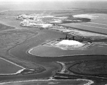 Image of Aerial View of Port of Redwood City Looking Southeast, August 1958