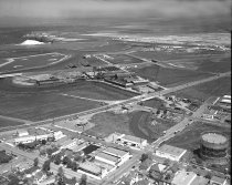 Image of Aerial View of Frank's Tannery and Port of Redwood City, August 1958