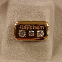 Image of Raychem Service Award Lapel Pin with Three Diamonds, c. 1970s-1999