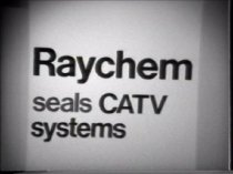 "Image of 2016.015.003.1 - Raychem Seals CATV Systems, c. 1970s. Copy of a black and white video on a Sony D-100 3/4"" U-matic videotape with NTSC encoding and a runtime of 18 minutes 37 seconds. The video shows a Raychem Corporation trade show presentation for heat-shrink telecom seals featuring Ray the Raychem Seal. Ray the Raychem seal is a puppet performed by Dave Goelz who interacts with a woman named Sandy who demonstrates heat-shrink drop seal hookup products in front of a small audience.