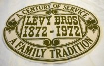 Image of Levy Brothers Century Banner, 1972