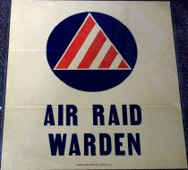 Image of 1982.193.006 - Air Raid Warden window poster, c. 1942-1945. This poster was made by George Dixon Press Inc., Passaic, N.J. Dimensions: 11.5 x 10.5.