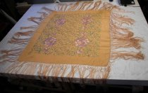 Image of Floral Fringed Shawl, n.d
