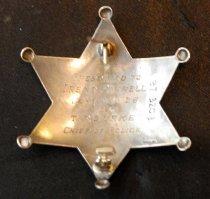 Image of Irene Farrell's San Mateo Police Badge, 1926