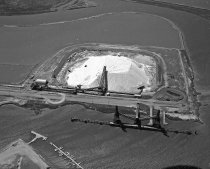 Image of Aerial of Leslie Salt Company in Redwood City, Loading Dock and Operations