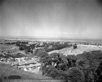 Image of 2015.001.00726.3 - Millbrae Hills, Millbrae Looking East towards San Francisco Bay, 1960