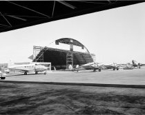 Image of Mills Field General Aviation Hangar Construction at San Francisco Internati