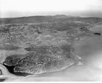 Image of Aerial, Beginning Development of Brewer Island into Foster City, 1961