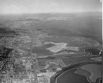 Image of Aerial of Belmont and Brewer Island (Foster City) Looking Northwest, 1961