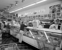 Image of Duca & Hanley Meat Counter, San Mateo County, 1961