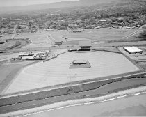 Image of Aerial of the Redwood Drive-In Looking West, Redwood City, 1961