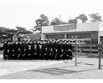 Image of 2015.001.02462.3 - Daly City Firefighters in Front of Central Fire Station during Daly City's 50th Anniversary Celebration, 1961