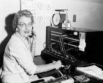 Image of City Hall Switchboard Operator, Daly City, 1961