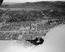 Image of Aerial of Coyote Point and Old Shoreview Looking Southwest, 1962