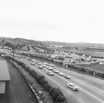 Image of Traffic on East Hillsdale Boulevard West, 1962