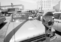 Image of City of San Mateo's First Meter Maid, 1963