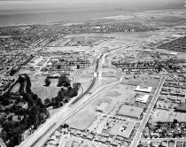 Image of State Route 92 and El Camino Overpass Construction in San Mateo, 1963
