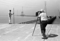 Image of 2015.001.04908.1 - Surveying for Construction of New San Mateo-Hayward Bridge, 1963